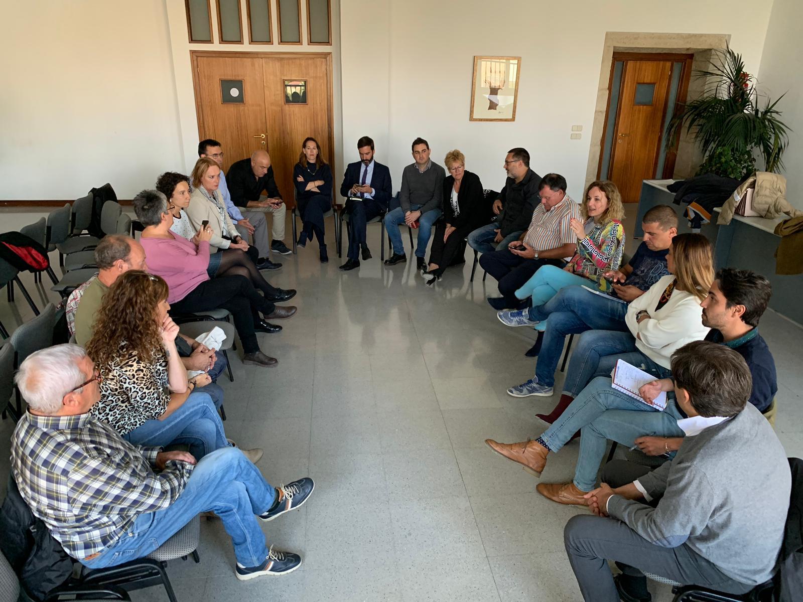 Reunión de trabajo con la Agrupación Socialista de Lanciego/Lantziego