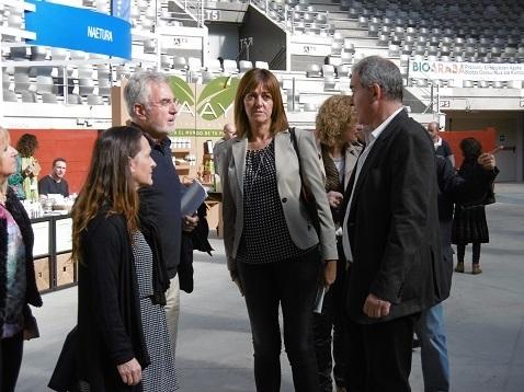 Visita Biorara Idoia Mendía y Candidatos